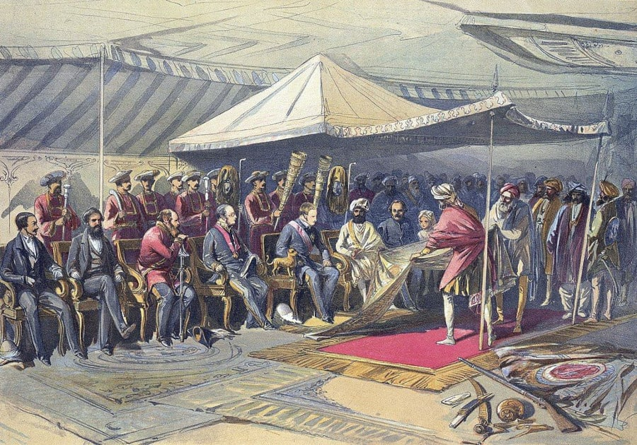 900px-Return visit of the Viceroy to the Maharaja of Cashmere