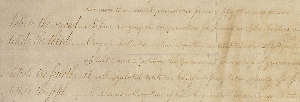 Excerpt from the Bill of Rights