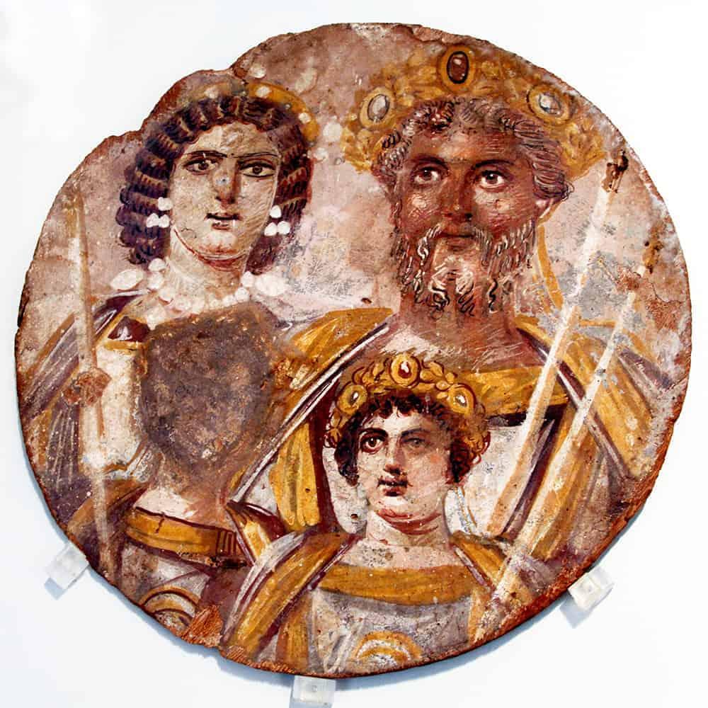 Portrait of family of Septimius Severus