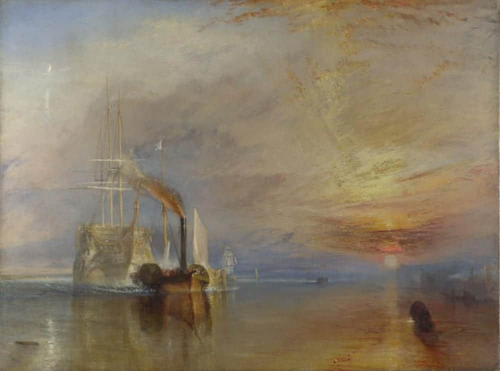 The Fighting Temeraire tugged to her last berth to be broken up, 1839, oil on canvas. National Gallery